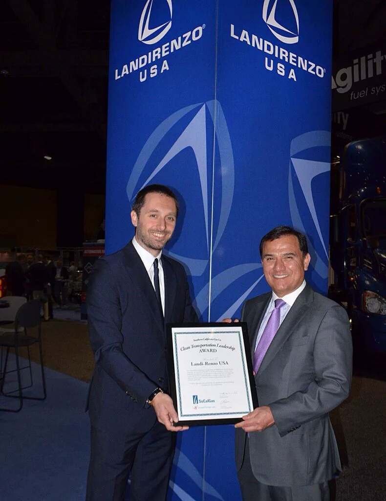 SoCalGas Presents Landi Renzo with Clean Transportation Leadership Award